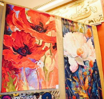 Colourful tapestries for the wall. So nice! I wanted to buy many of them! I could just buy them with my eyes.