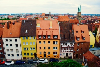 The view from the castle, looking out over Nuremberg.