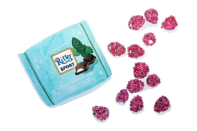 Ritter and raspberries