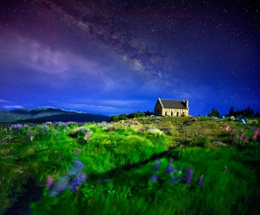 Although you could camp in this location, you should still arrive during the day. I wanted to add this beautiful image. Excellent night time scenery, photo credit: shutterstoppers.com