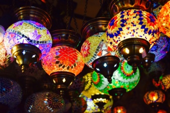 Love all these colourful lanterns too. Yes if I had unlimited bags, and light fittings, I would have bought all of them! They look so good together!