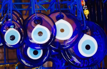 The evil eye pendants. everywhere to be found in this part of the world.