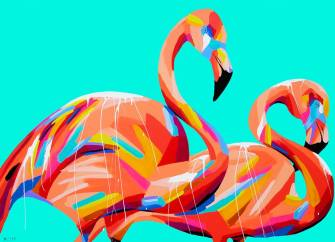I have always loved pink flamingoes in every form. These ones are equally special and fabulous!