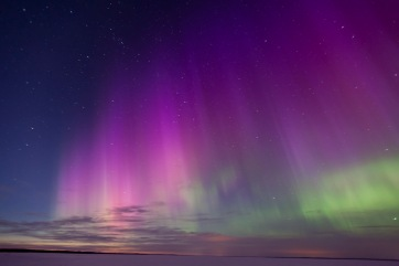 Amazing Northern lights seen and captured in Latvia, photo credit here.