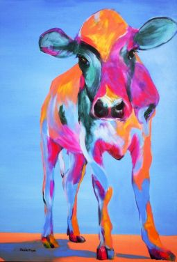 This lovely cow image came from saatchionline.com. I love the colours chosen here.
