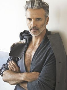 A fine example of a Silver Fox. Great chest hair and everything! Ok could go a little more chest hair... :)