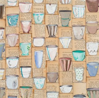 I really love this illustration of tea cups. Such lovely work Ali J well done!!