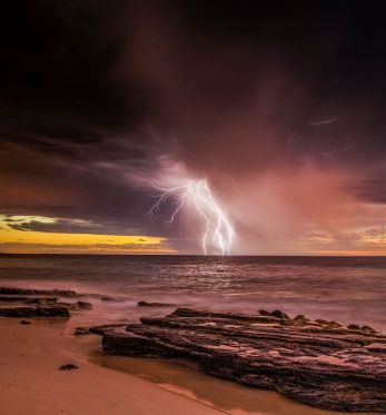 An amazing shot of the storm here in Perth, photo taken by Nicole Fenwick.
