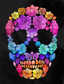 A brilliant day of the dead watercolour thanks to pinterest.