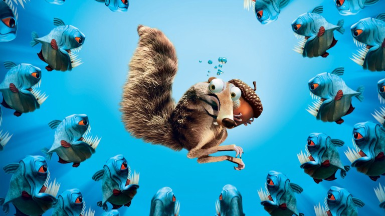 Scrat-in-Ice-Age-Post-in-1920x1080-Pixel-Scrat-is-in-the-Center-of-Fishes-with-Sharp-Teenth-Precious-is-Still-in-the-Hand-TV-Movies-Post