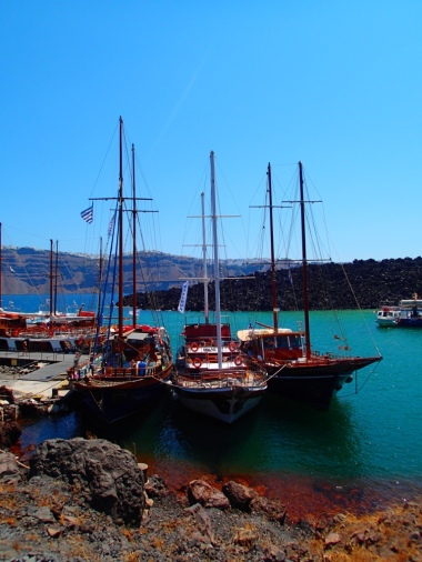 This is where the ships dock while we hike up the volcano. A nice shot I thought for all my boat loving friends!